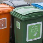 Fietsoversteek koestraat- Afvalcontainers